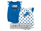 Detroit Lions Outerstuff NFL Newborn Polka Fan 2 Piece Creeper Set Infant Apparel