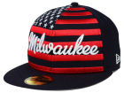 Milwaukee Brewers New Era MLB Big Merica 59FIFTY Cap Fitted Hats
