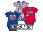 New York Giants NFL Newborn 3pc Bodysuit Set Infant Apparel