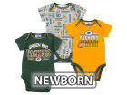 Green Bay Packers NFL Newborn 3pc Bodysuit Set Infant Apparel