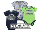 Seattle Seahawks NFL Newborn 3pc Bodysuit Set Infant Apparel