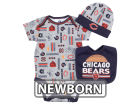 Chicago Bears NFL Newborn 3 Piece Set Bodysuit, Bib & Cap Set Infant Apparel