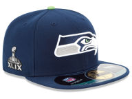 New Era NFL Super Bowl XLIX On Field Patch XP 59FIFTY Cap Fitted Hats