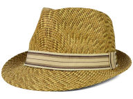 LIDS Private Label PL 3 Tone Straw Fedora with Grosgrain Band Hats