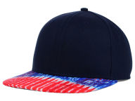 Concept One May Americana Tie Dyed Printed Visor Snapback Hat Adjustable Hats