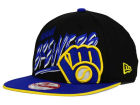 Milwaukee Brewers New Era MLB Neon Word Scribbs 9FIFTY Snapback Cap Adjustable Hats