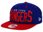 New York Rangers New Era NHL Vintage Big Word 9FIFTY Snapback Cap Adjustable Hats