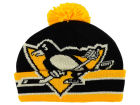 Pittsburgh Penguins CCM Hockey NHL CCM Oversized Logo Cuffed Pom Knit Hats