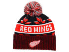 Detroit Red Wings Old Time Hockey NHL Dasher Pom Knit Hats