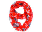 Chicago Blackhawks Forever Collectibles All Over Logo Infinity Wrap Scarf Apparel & Accessories