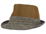 LIDS Private Label PL Straw & Textured Cotton Tonal Fedora Hats