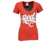 5th & Ocean MLB Women's Foil Player V-Neck T-Shirt T-Shirts