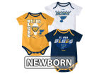 St. Louis Blues Reebok NHL Newborn 3 Part Spread Creeper Set Infant Apparel