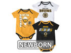 Boston Bruins Reebok NHL Newborn 3 Part Spread Creeper Set Infant Apparel