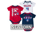 New York Rangers Reebok NHL Newborn 3 Part Spread Creeper Set Infant Apparel