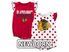 Chicago Blackhawks Reebok NHL Newborn Polka Fan Creeper Set Infant Apparel