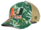 Miami Hurricanes Top of the World NCAA Shore Stretch Cap Stretch Fitted Hats