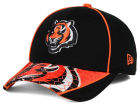 Cincinnati Bengals New Era NFL Hex Charge 39THIRTY Cap Stretch Fitted Hats