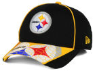 Pittsburgh Steelers New Era NFL Hex Charge 39THIRTY Cap Stretch Fitted Hats