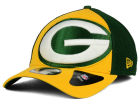 Green Bay Packers New Era NFL Logo Blimp 39THIRTY Cap Stretch Fitted Hats