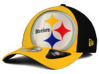 Pittsburgh Steelers New Era NFL Logo Blimp 39THIRTY Cap Stretch Fitted Hats