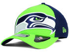 Seattle Seahawks New Era NFL Logo Blimp 39THIRTY Cap Stretch Fitted Hats
