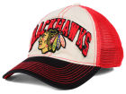 Chicago Blackhawks Reebok NHL 2015 Felt Mesh Slouch Cap Stretch Fitted Hats