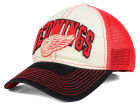 Detroit Red Wings Reebok NHL 2015 Felt Mesh Slouch Cap Stretch Fitted Hats