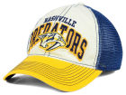 Nashville Predators Reebok NHL 2015 Felt Mesh Slouch Cap Stretch Fitted Hats