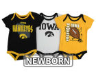 Iowa Hawkeyes Outerstuff NCAA Newborn 3 Point Spread Set Outfits