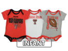 Texas Tech Red Raiders Outerstuff NCAA Newborn 3 Point Spread Set Outfits