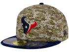 Houston Texans New Era NFL 2015 Salute to Service 59FIFTY Cap Fitted Hats