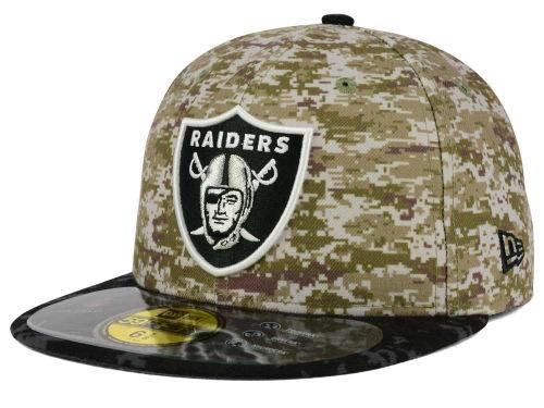Oakland Raiders Camo Black New Era Nfl 2015 Salute To