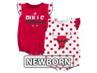 Chicago Bulls adidas NBA Newborn Polka Fan 2Pk Set Outfits