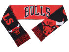 Chicago Bulls Forever Collectibles Acrylic Knit Scarf Reversible Split Logo Apparel & Accessories