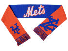 New York Mets Forever Collectibles Acrylic Knit Scarf Reversible Split Logo Apparel & Accessories