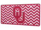 Oklahoma Sooners Chevron Laser Tag Auto Accessories