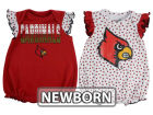 Louisville Cardinals Outerstuff NCAA Newborn Girls Polka Fan Set Outfits