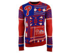Philadelphia Phillies Forever Collectibles MLB Men's Patches Ugly Sweater Sweatshirts