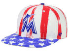 Miami Marlins '47 MLB '47 Log Cabin Snapback Cap Adjustable Hats