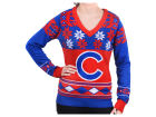 Chicago Cubs Forever Collectibles MLB Women's Big Logo V-Neck Sweater Sweatshirts