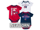 Columbus Blue Jackets Reebok NHL Newborn 3 Part Spread Creeper Set Infant Apparel