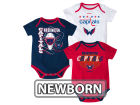 Washington Capitals Reebok NHL Newborn 3 Part Spread Creeper Set Infant Apparel