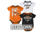 Anaheim Ducks Reebok NHL Newborn 3 Part Spread Creeper Set Infant Apparel