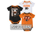 Philadelphia Flyers Reebok NHL Newborn 3 Part Spread Creeper Set Infant Apparel