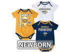 Nashville Predators Reebok NHL Newborn 3 Part Spread Creeper Set Infant Apparel