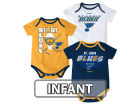 St. Louis Blues Reebok NHL Infant 3 Pt Spread Creeper Set Outfits