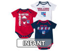 New York Rangers Reebok NHL Infant 3 Pt Spread Creeper Set Outfits