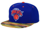 New York Knicks Mitchell and Ness NBA Space Knit Team Color Snapback Cap Adjustable Hats
