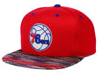 Philadelphia 76ers Mitchell and Ness NBA Space Knit Team Color Snapback Cap Adjustable Hats
